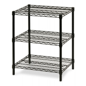 "3-Shelf Wire Storage Rack (18""W x 24""L x 30""H - Black)"