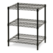 "3-Shelf Wire Storage Rack (18""W x 60""L x 30""H - Black)"