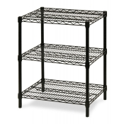 "3-Shelf Wire Storage Rack (24""W x 24""L x 30""H - Black)"