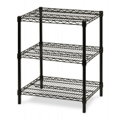 "3-Shelf Wire Storage Rack (24""W x 48""L x 30""H - Black)"