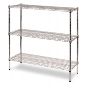 "3-Shelf Wire Storage Rack (18""W x 48""L x 48""H - Chrome)"
