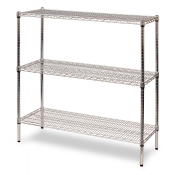 "3-Shelf Wire Storage Rack (18""W x 60""L x 48""H - Chrome)"