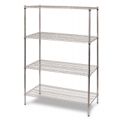"4-Shelf Wire Storage Rack (18""W x 24""L x 64""H - Chrome)"