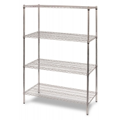 "4-Shelf Wire Storage Rack (18""W x 36""L x 64""H - Chrome)"