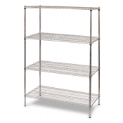 "4-Shelf Wire Storage Rack (24""W x 24""L x 64""H - Chrome)"