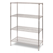 "4-Shelf Wire Storage Rack (24""W x 36""L x 64""H - Chrome)"