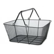 Wire Mesh Shopping Baskets (Set of 12, Black)