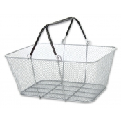 Wire Mesh Shopping Baskets (Set of 12, Silver)