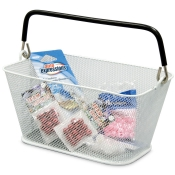 Shopping Baskets, Mini Wire Mesh Baskets (White)