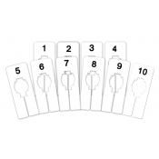 Fitting Room Assortment of Rectangular Size Dividers