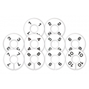 Fitting Room Assortment of Round Size Dividers