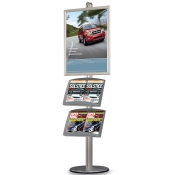 Single-Sided StyleLine Display Combo (1- Frame 2- Literature Pockets)