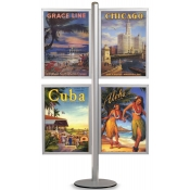 StyleLine Combo Displays (4 Frames-Side Mount Poster Display)