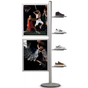 StyleLine Combo Displays (Circular Shelves-Poster Frames Combo)