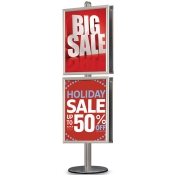 StyleLine Poster Frame Displays (Double-Sided Poster Display - 4 Frames)