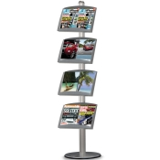 StyleLine Literature Display (Single-Sided Literature Display - 4 Pockets)