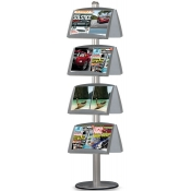 StyleLine Literature Display (Double-Sided Literature Display - 8 Pockets)