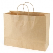 Large Natural Kraft Bags