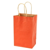 Small Burnt Orange Kraft Shopping Bags