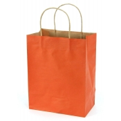 Medium Burnt Orange Shopping Bags