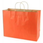 Large Burnt Orange Kraft Shopping Bags