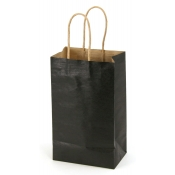 Small Black Kraft Shopping Bags