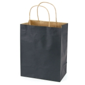 Medium Black Kraft Shopping Bags