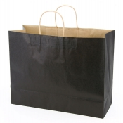 Large Black Kraft Shopping Bags