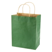 Medium Hunter Green Kraft Shopping Bags