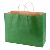 Large Hunter Green Kraft Shopping Bags