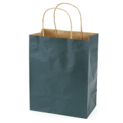Medium Navy Blue Kraft Shopping Bags