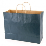 Large Navy Blue Kraft Shopping Bags