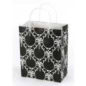 Medium Damask Dream Kraft Shopping Bags