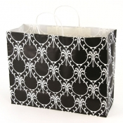 Large Damask Dream Kraft Shopping Bags