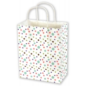 Medium Dainty Dots Kraft Shopping Bags