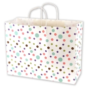 Large Dainty Dots Kraft Shopping Bags
