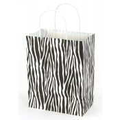 Medium Zebra Skin Kraft Shopping Bags