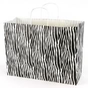 Large Zebra Skin Kraft Shopping Bags