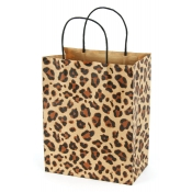 Medium Leopard Brown Kraft Shopping Bags