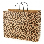 Large Leopard Brown Kraft Shopping Bags