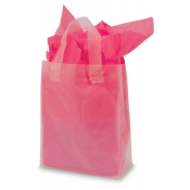 Medium Clear Frosty Shopping Bags (Box of 100)
