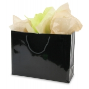 Large Black Euro Tote Shopping Bags