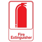 "Fire Extinguisher Area Sign - 4"" x 6"""