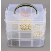 18 Compartment Clear Plastic Supply Organizer