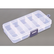 10 Compartment Clear Plastic Supply Organizer