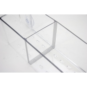 Glass Mount Merchandise Bin (Dividers)