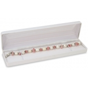 Classic Jewelry Boxes (White Faux Leather for Bracelets and Watches)