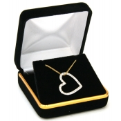 Classic Jewelry Boxes (Black Velvet Pendant/Earrings)