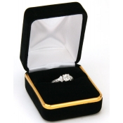 Classic Jewelry Boxes (Black Velvet Ring)