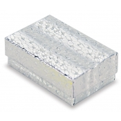 Silver Cotton Filled Jewelry Boxes (Pins, Broaches)